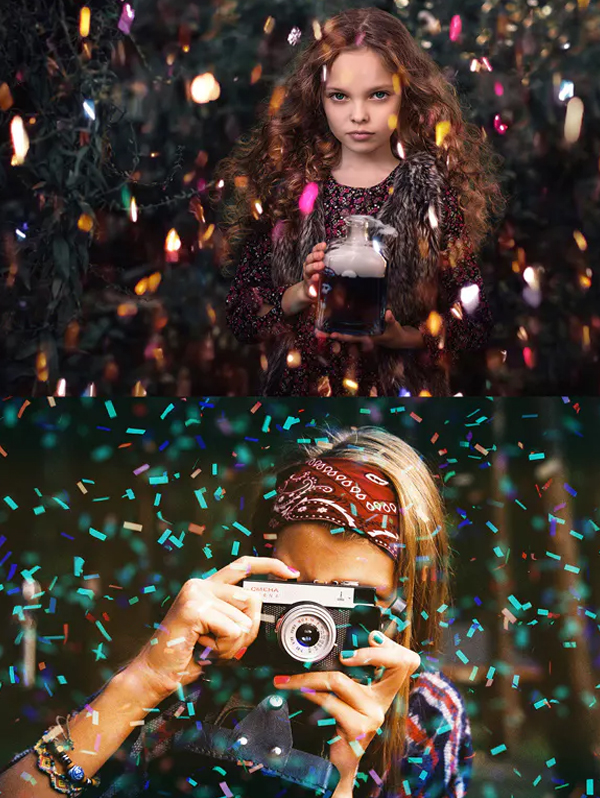 Confetti Overlay Effect in Photoshop