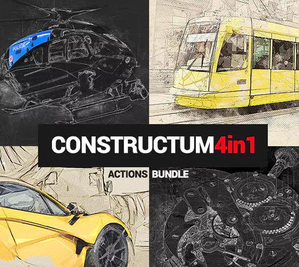 Constructum Photoshop Actions Bundle