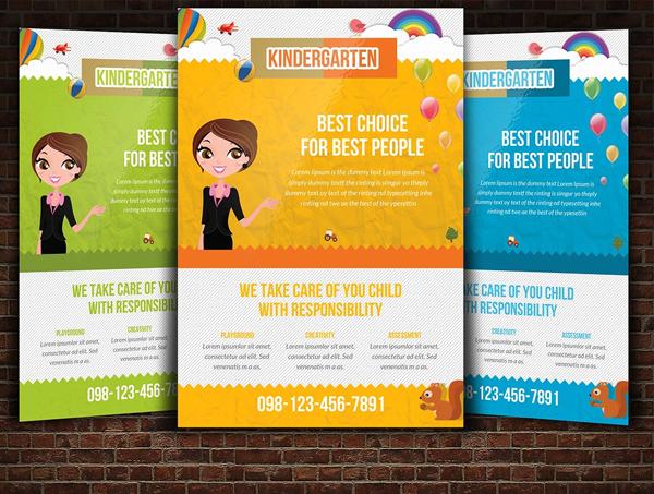 Customizable Kindergarten Flyer Template