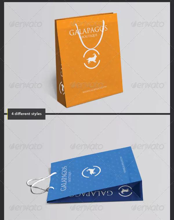 Customizable Shopping Bag PSD Mockup