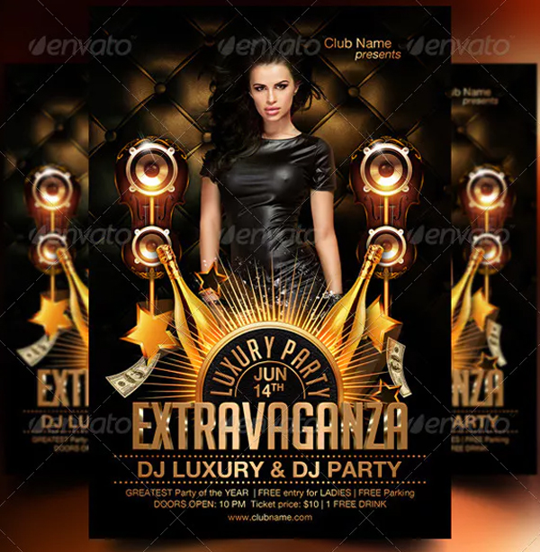 DJ Luxury Party Flyer Template