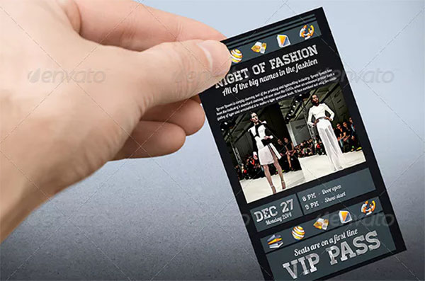 Dark Style VIP Pass Card Template