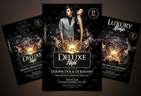 Deluxe Night Luxury Elegant Flyer