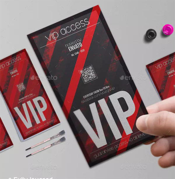Devil Red VIP Pass Template