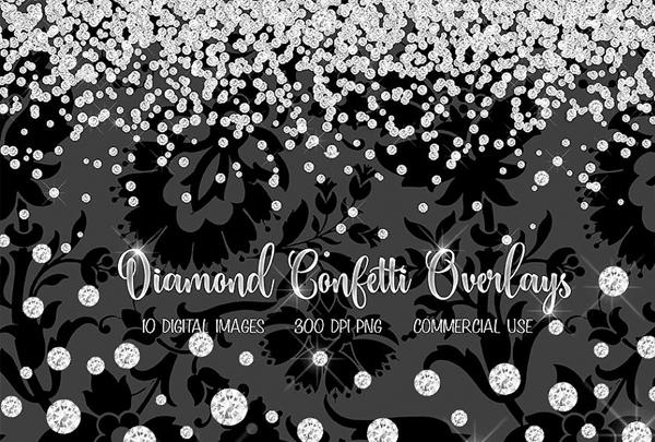 Diamond Confetti Overlays