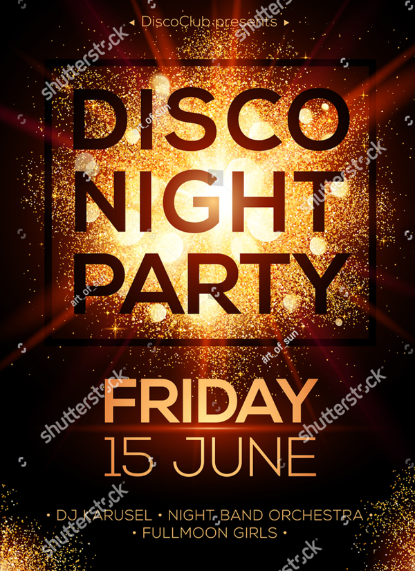 Disco Night Party Luxury Flyer Template
