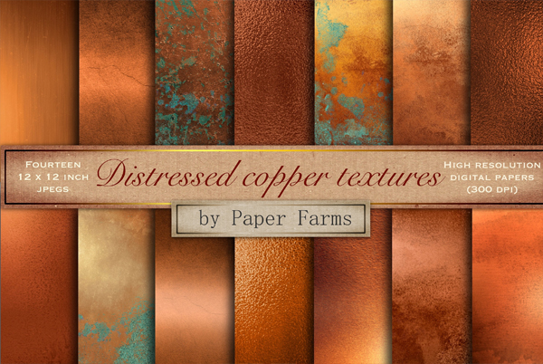 Distressed Copper Textures