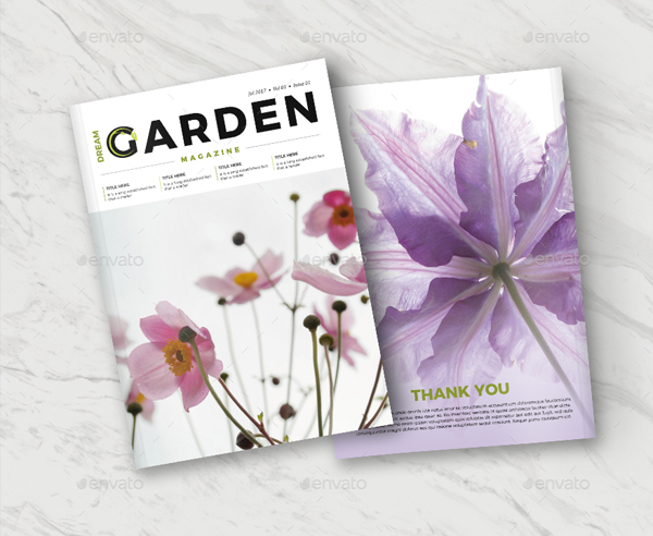 Dream Gardening Magazine Templates
