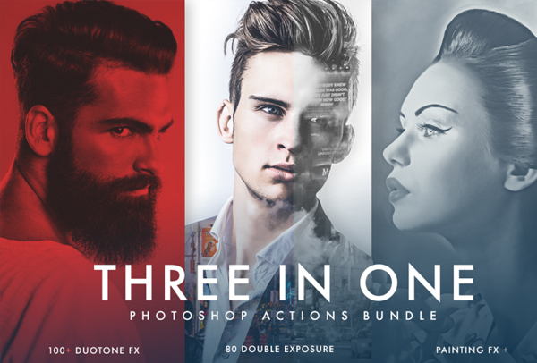 Duotone, Double Exposure and Painting Actions Bundle