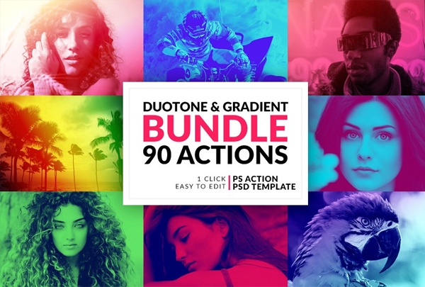 Duotone and Gradient Actions Bundle
