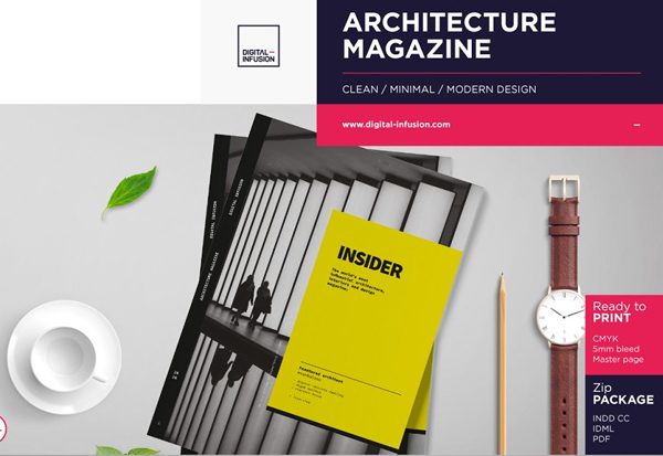 Editable Architecture Magazine Template
