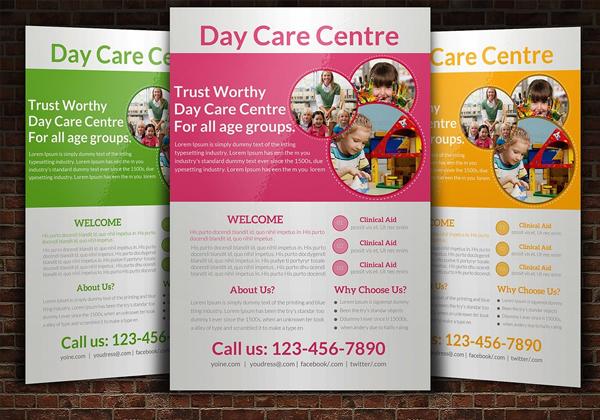 Editable Daycare Flyer Templates