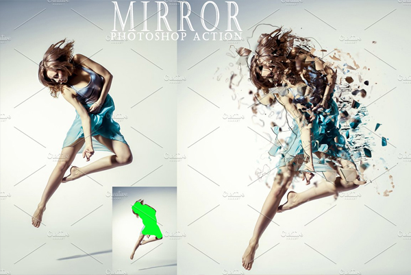 Editable Mirror Photoshop Action