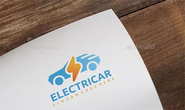 Electric Car Logo Template Design
