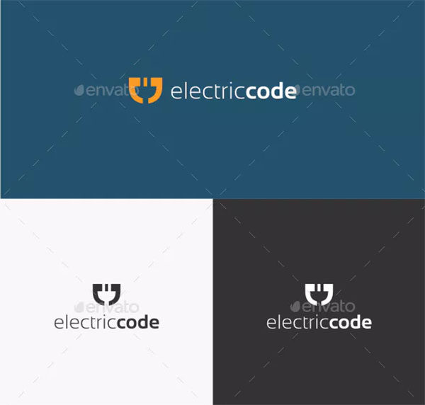Electric Code Logo Template