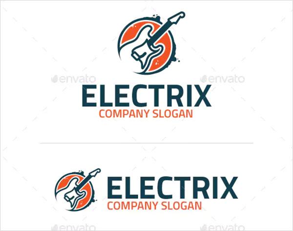 Electric Guitar Logo Template