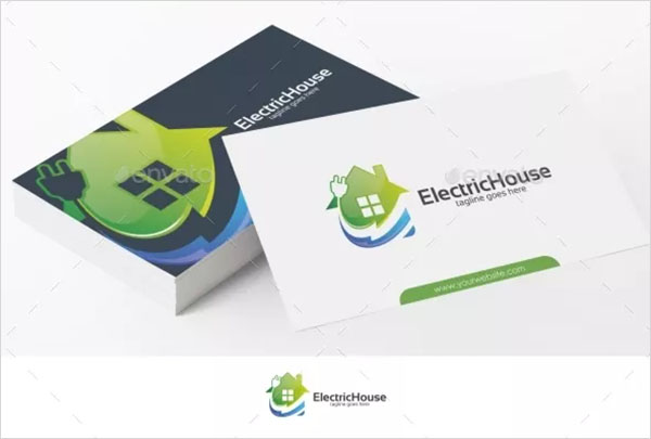 Electric House Logo Template