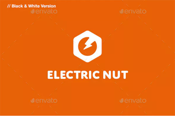 Electric Nut Logo Template