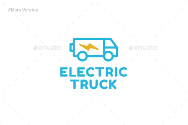 Electric Truck Logo Template