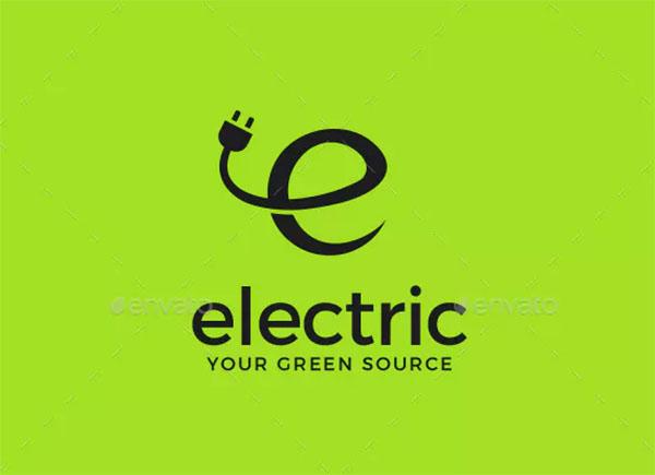 Electricity Letter E Logo