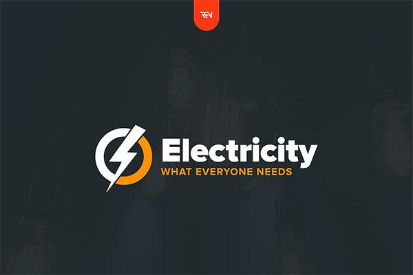 Electricity PSD Logo Design