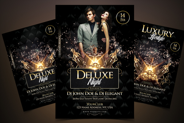 Elegant Deluxe Night Luxury Flyer Template