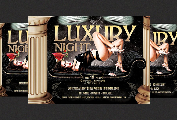 Elegant Luxury Nights Party Flyer Template