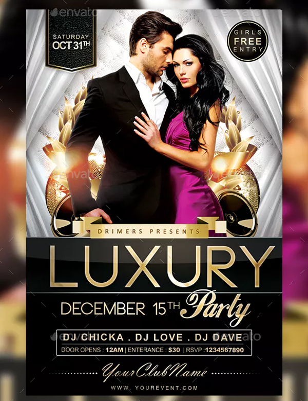 Elegant Luxury Party Flyer Templates