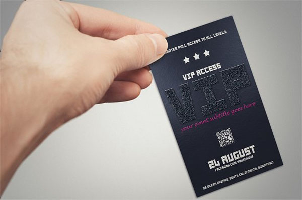 Elegant VIP Pass Card Styles Template