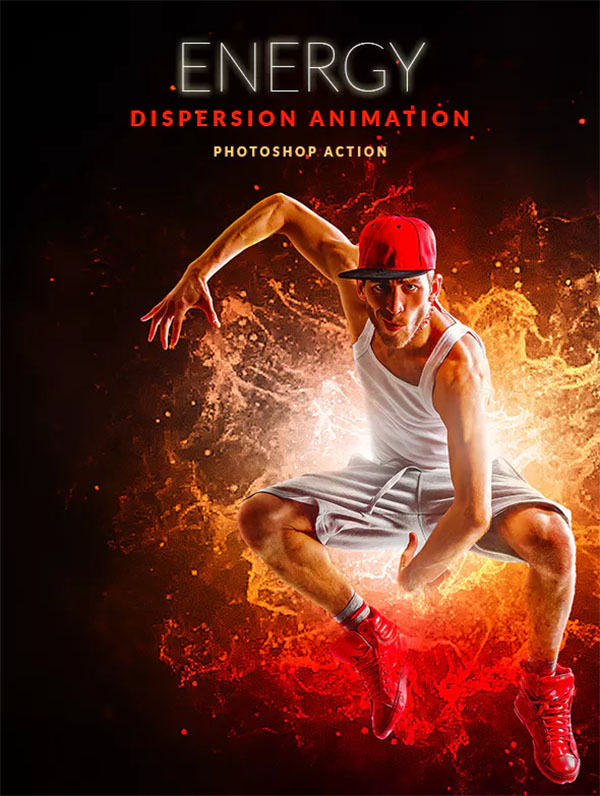 Energy Dispersion Animation Photoshop Action