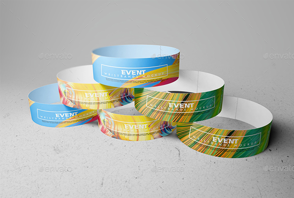 Event Wristbands Mockup Template