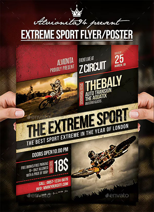 Extreme PSD Sport Flyer and Poster