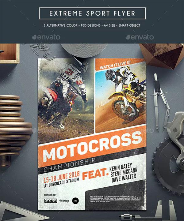 Extreme Sport Flyer PSD Design