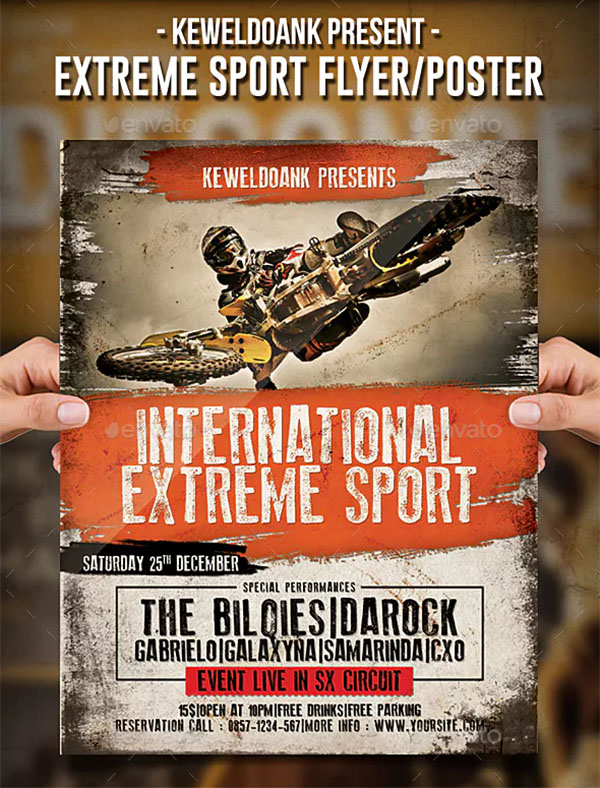 Extreme Sport Flyer and Poster Template