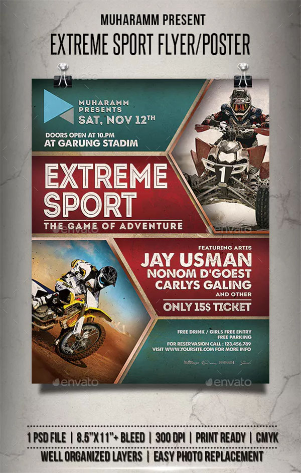 Extreme Sport Flyer and Poster