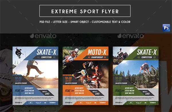 Extreme Sports Flyer PSD Designs