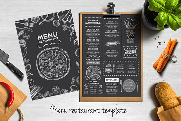 FREE! Trifold and Cafe Menu Template