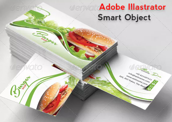 Fast Food Business Card Design Template