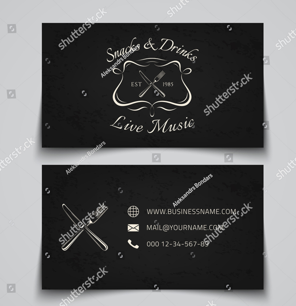 Fast Food Business Card Template with Logo
