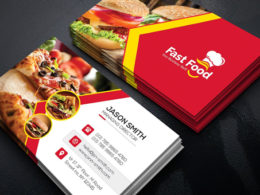 Fast Food Business Card Templates