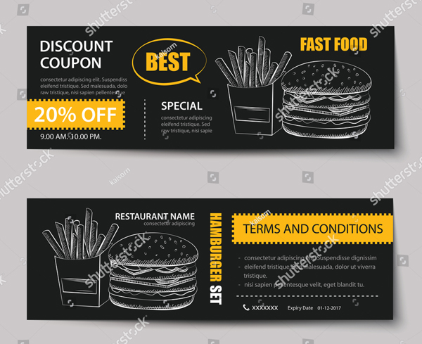 Fast Food Ticket