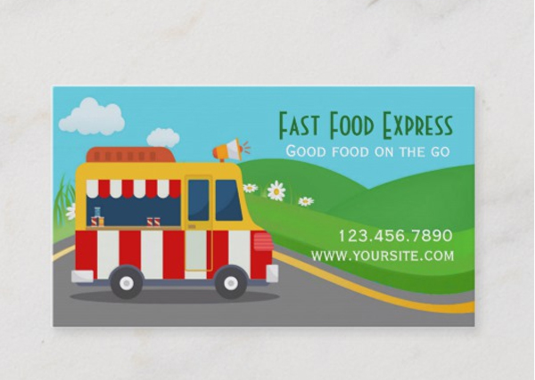 Fast Food Truck Business Card