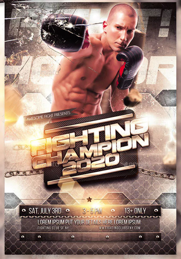 Fighting Sports Flyer