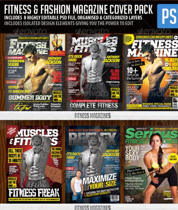 Fitness & Fashion Magazine Cover Templates