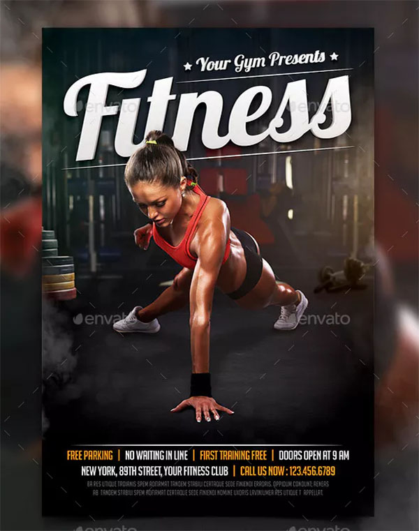 Fitness Sport Flyer Template