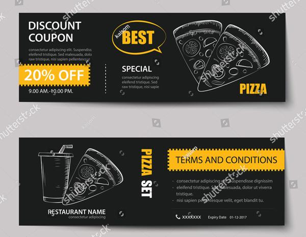 Flat Design Fast Food Ticket
