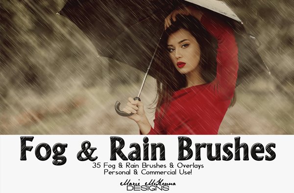 Fog, Rain Brushes and Overlays