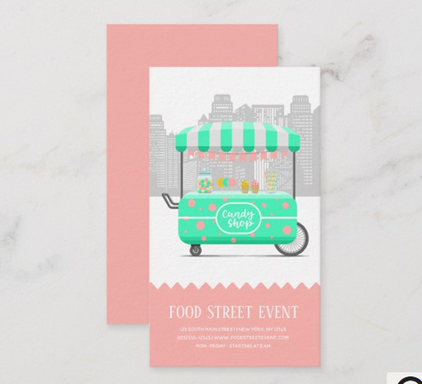 Food Street Candy Shop Business Card