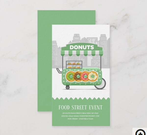 Food Street Donuts Business Card