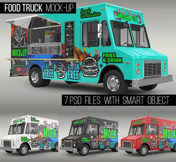 Food Truck Mock-Up Template